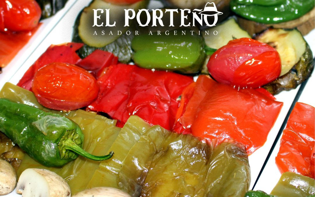The barbecue of vegetables from El Porteño restaurant
